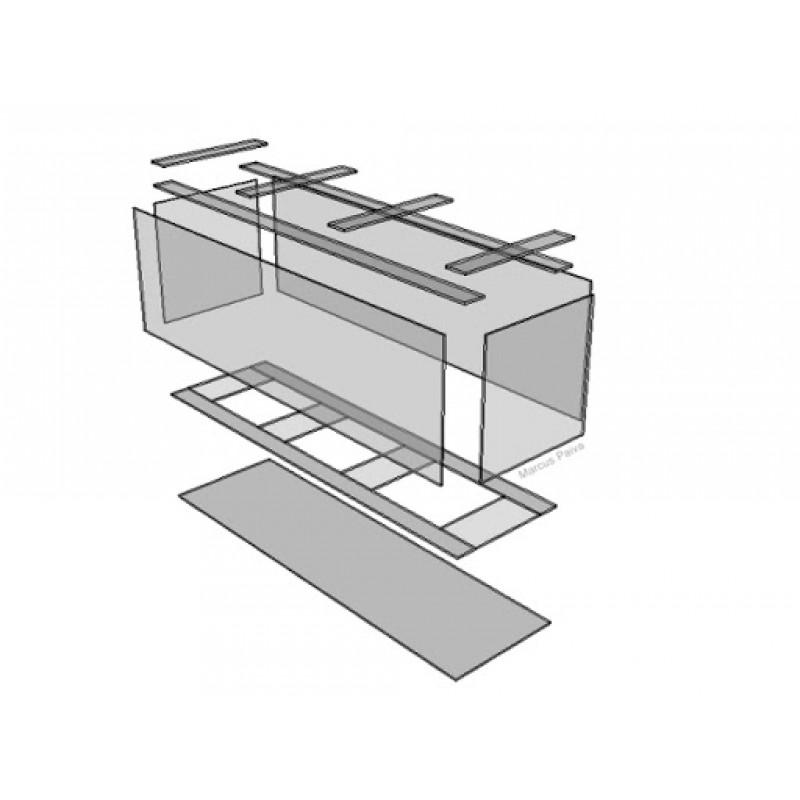 Aquário Cube AquaGolden de Acrílico 600 Litros